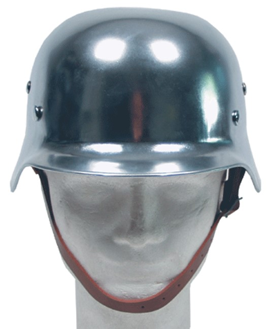 German chrome helmet