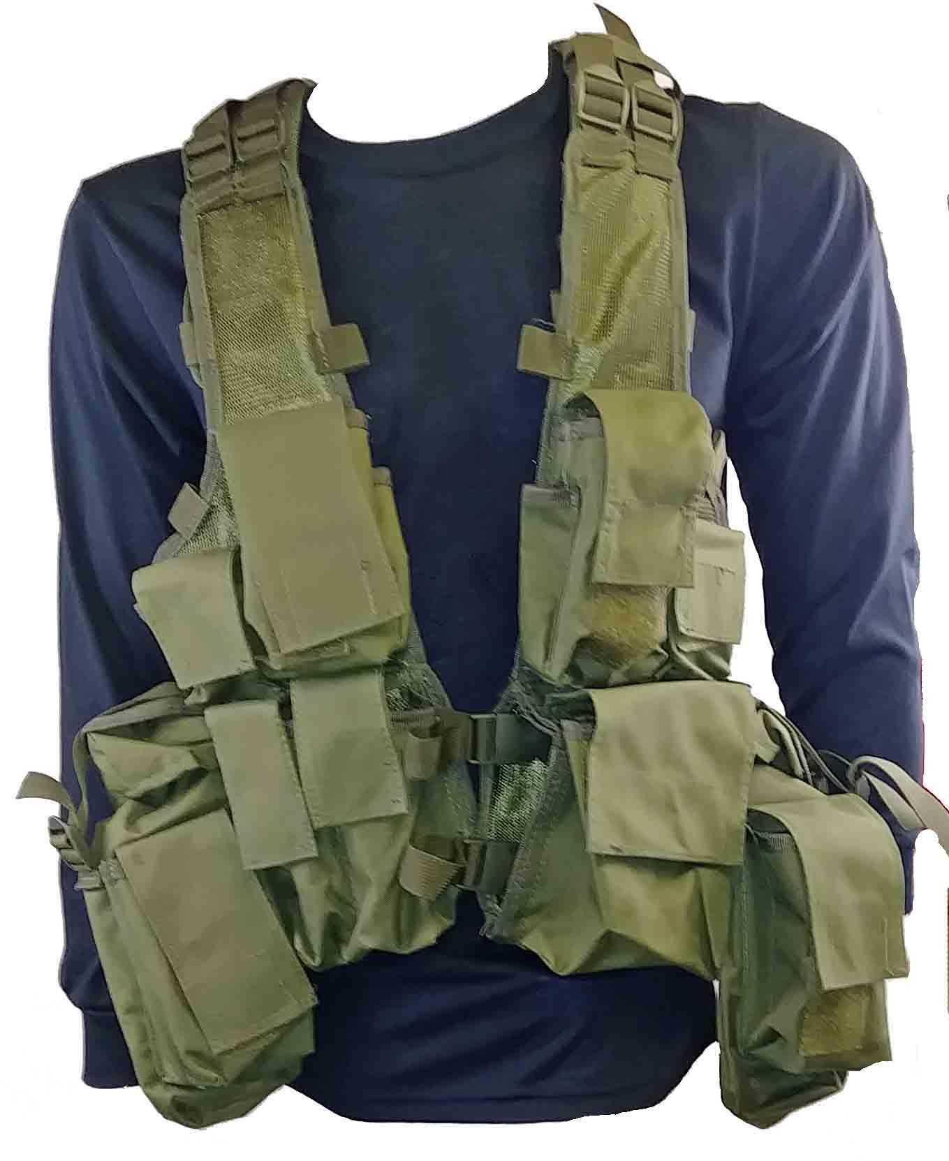 Olive drab tactical vest