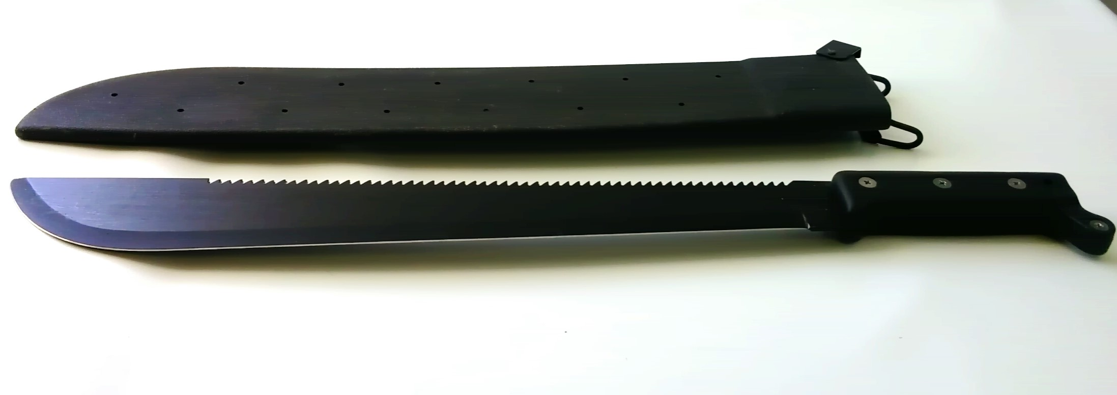 U.S black machette with plastic sheath(12022)