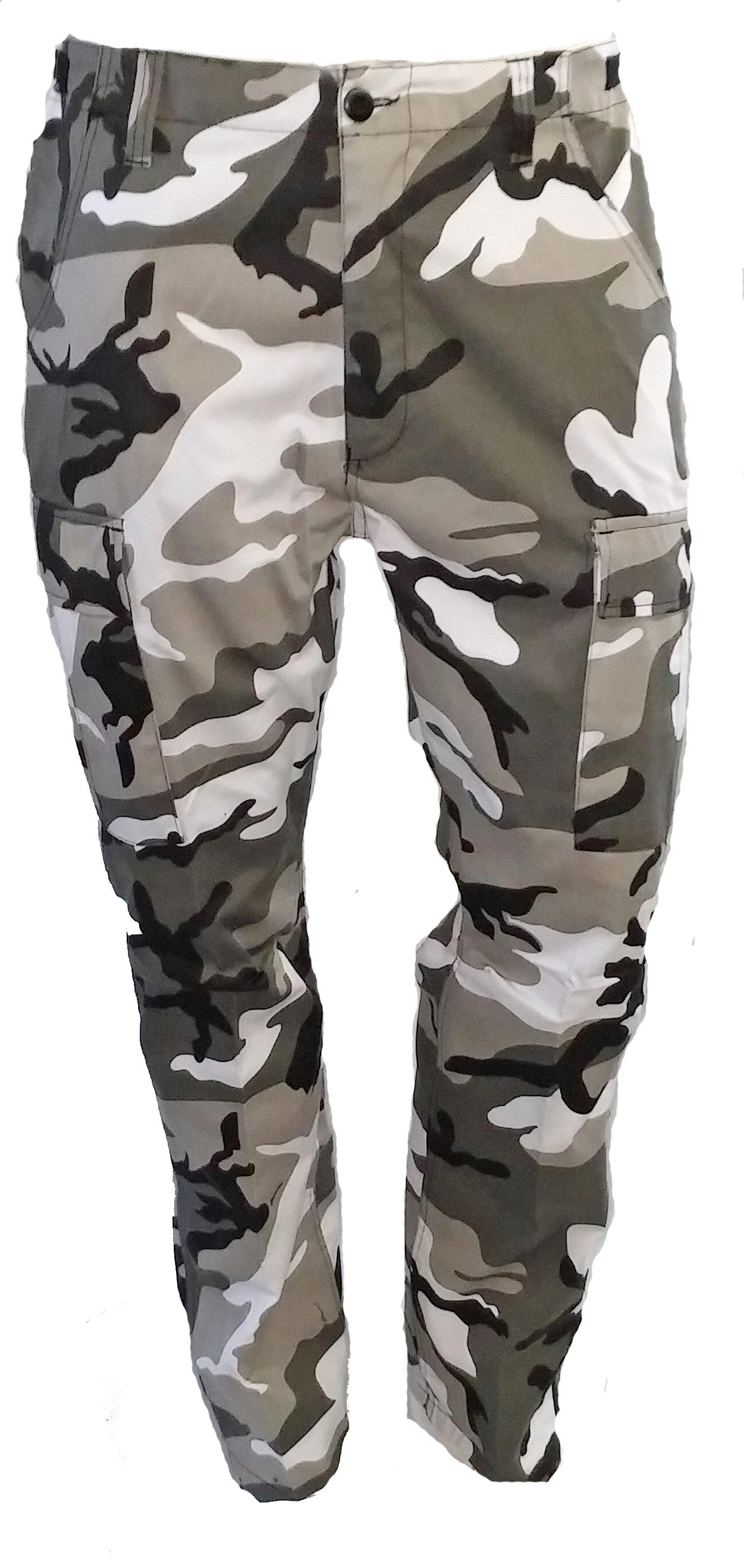 BDU army style urban camo pants