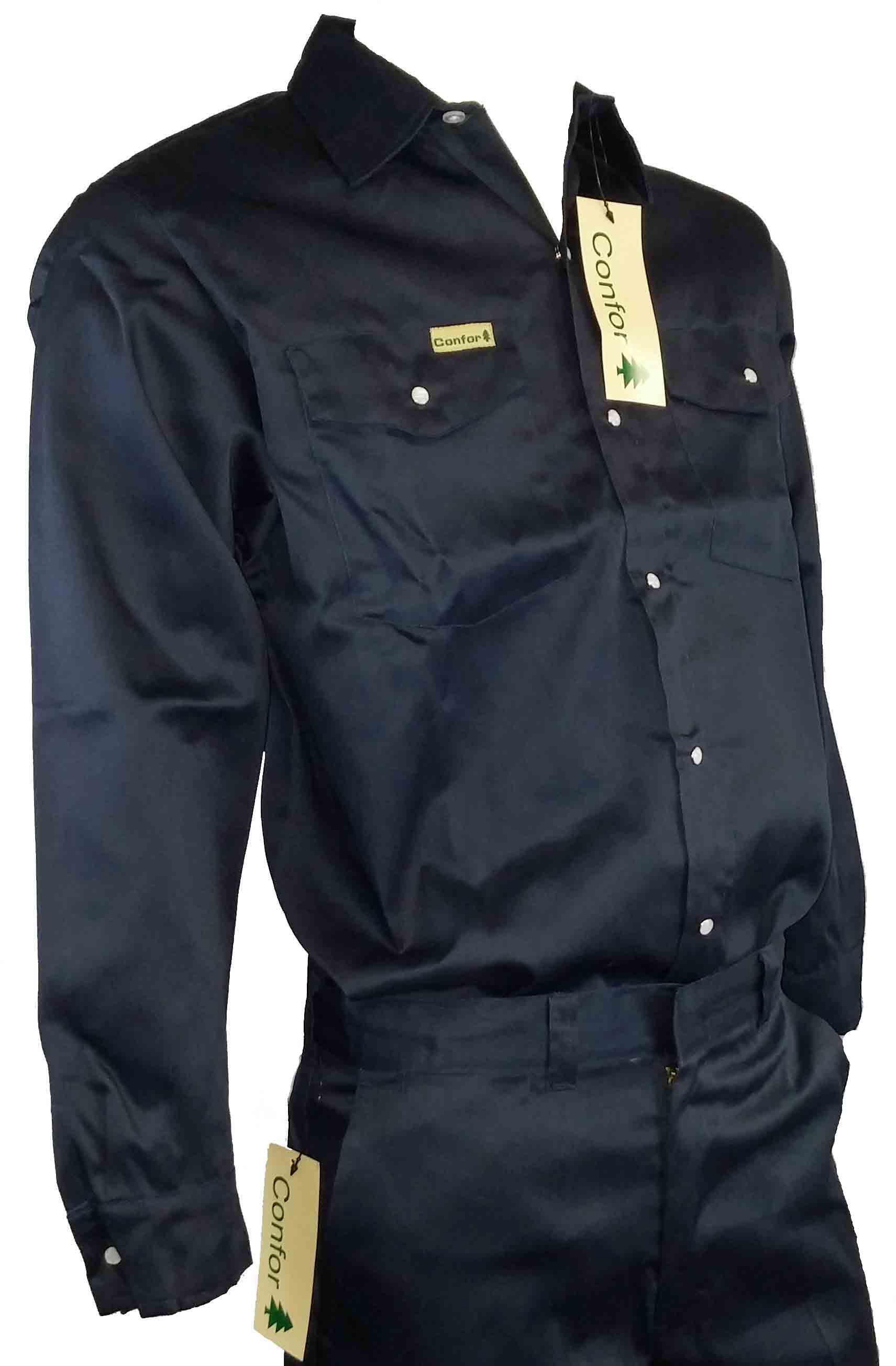 NAVY CONFORT WORK SHIRT