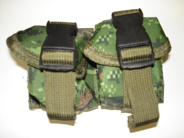 Canadian digital double grenade pouch