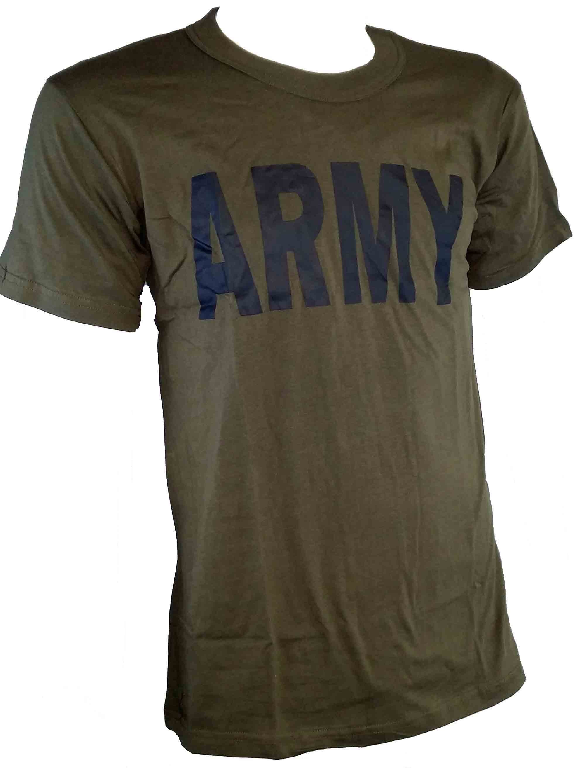 OLIVE DRAB T-SHIRT WITH ARMY LOGO