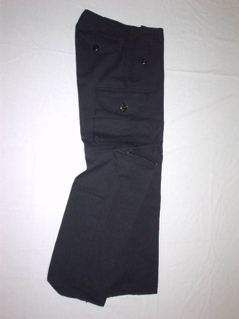 Black convertible combat style pant