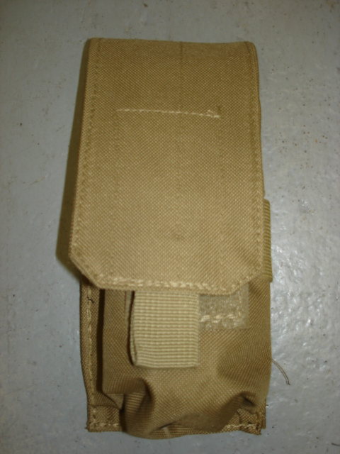 Tan simple magazine pouch