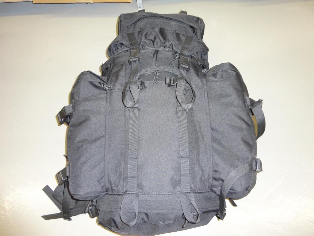 Black combat rack sack
