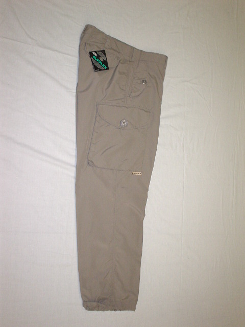 TAUPE NYLON COMBAT STYLE PANT