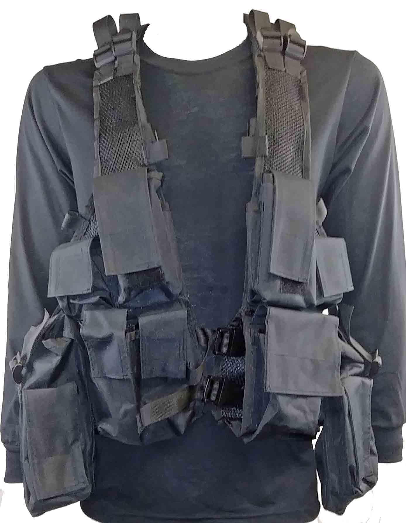 Black tactical vest