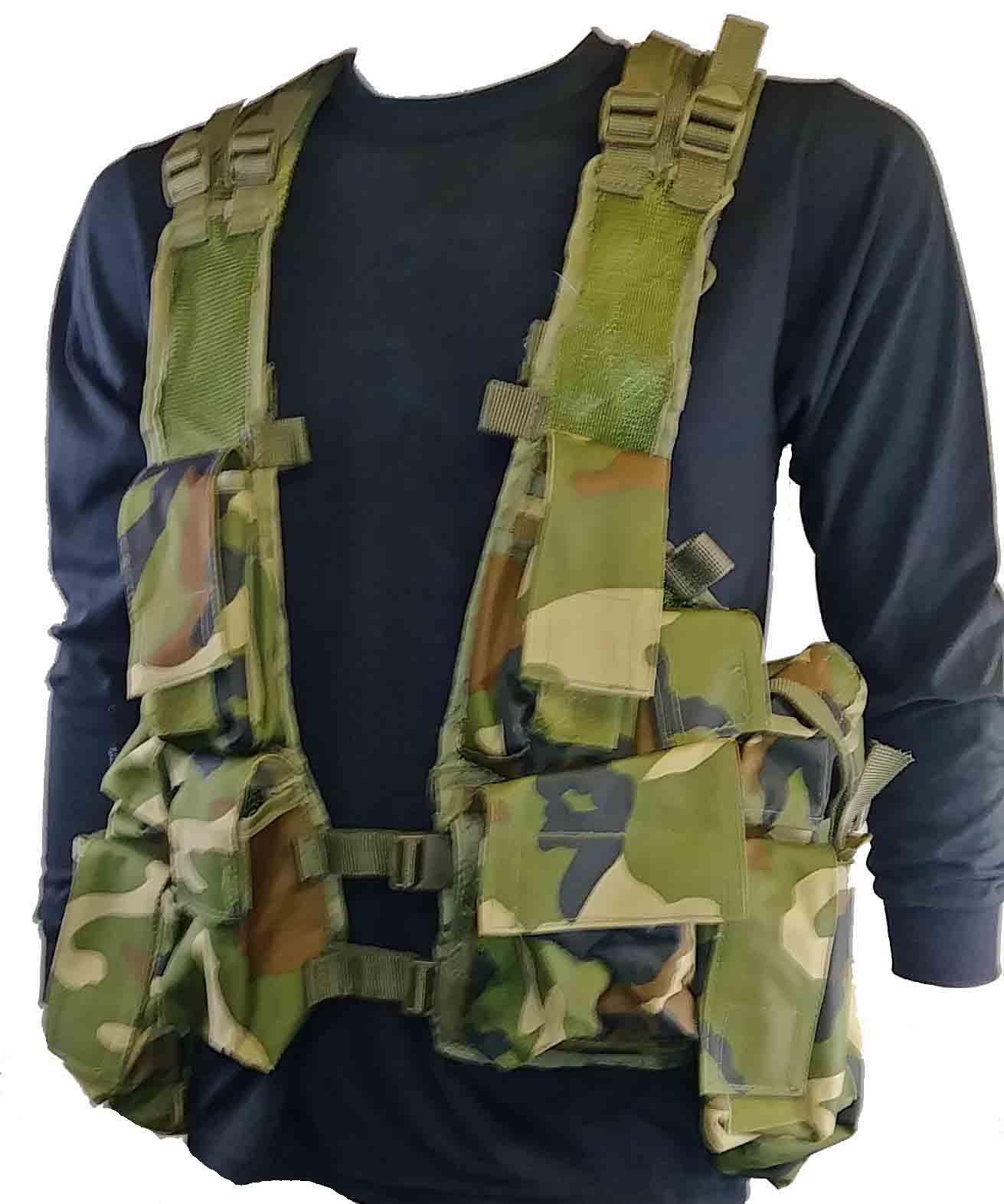 Woodland camo tactical vest