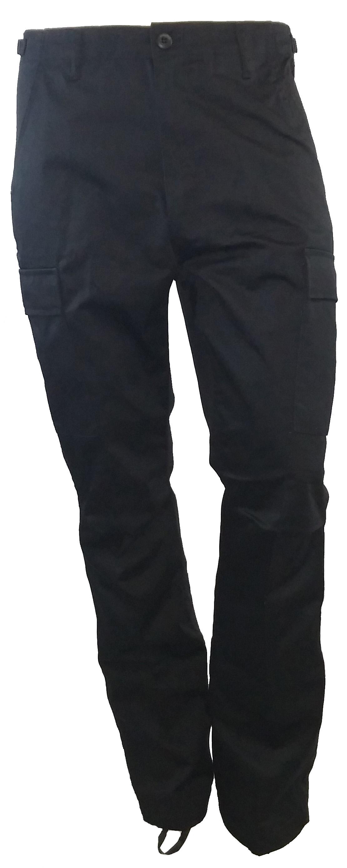 BDU army style black pants