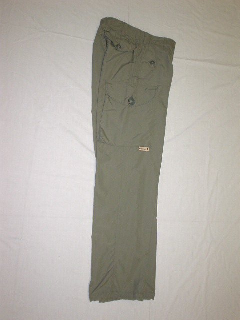 Loden green nylon combat style pant