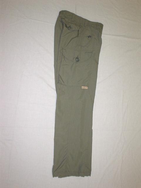 Pantalon de style combat en nylon taupe