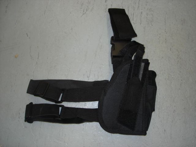 Black tactical leg holster