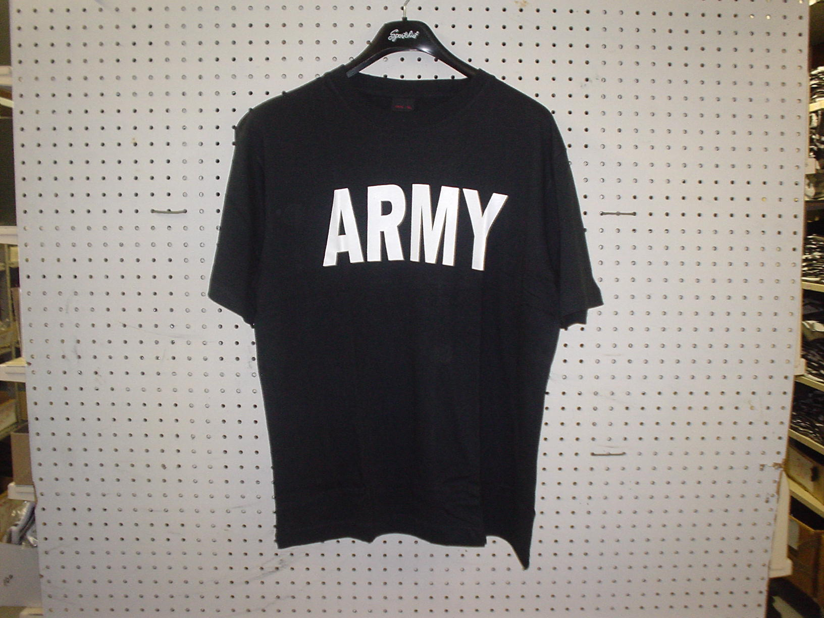 T-SHIRT WITH ARMY LOGO