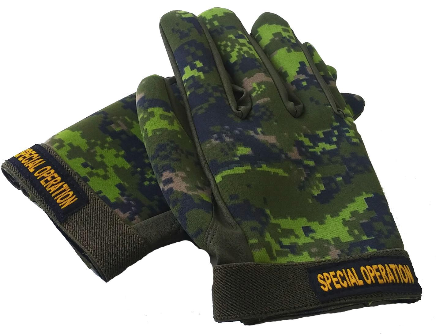 Neoprene combat gloves Canadian digital color