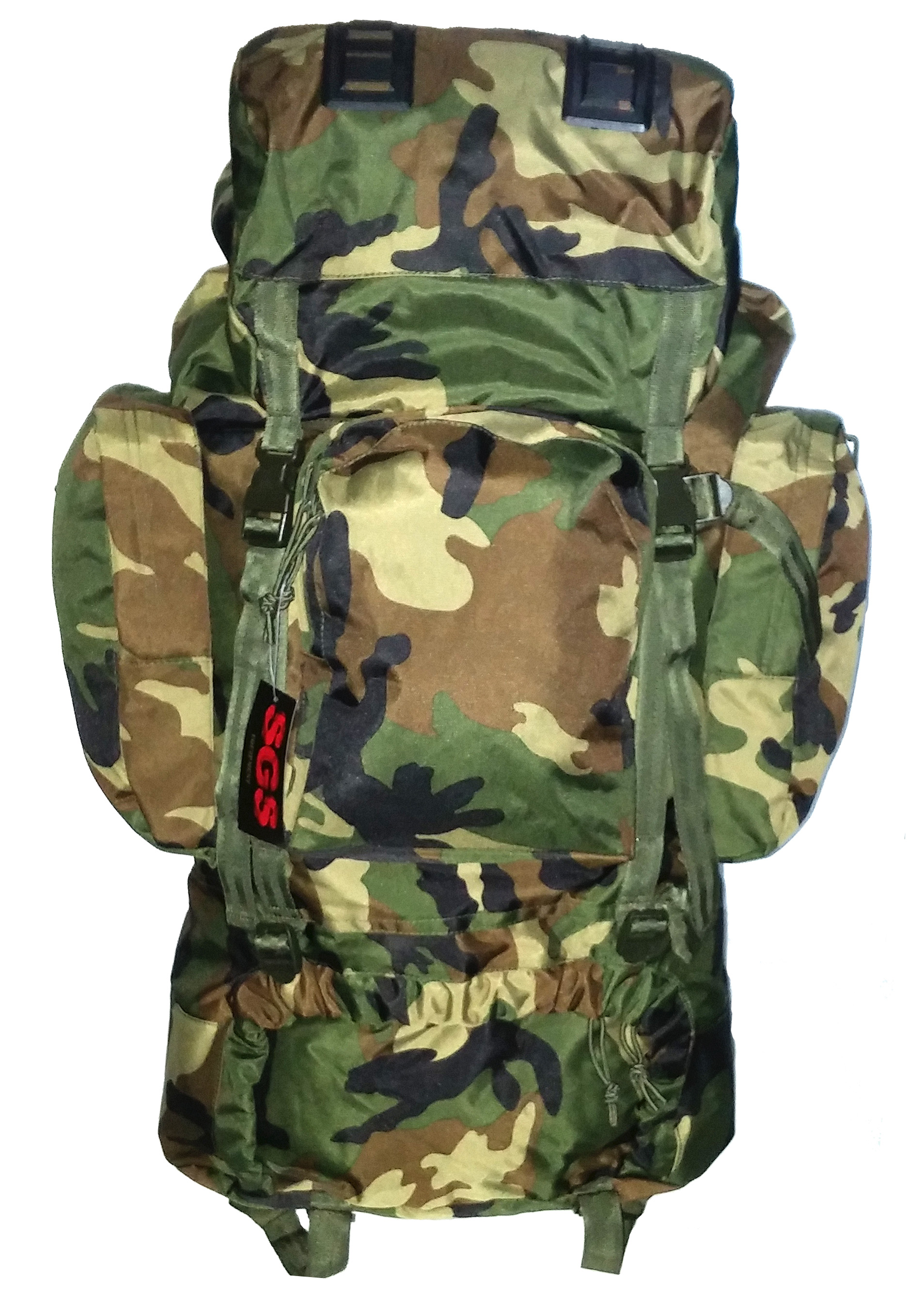 Woodland combat rack sack