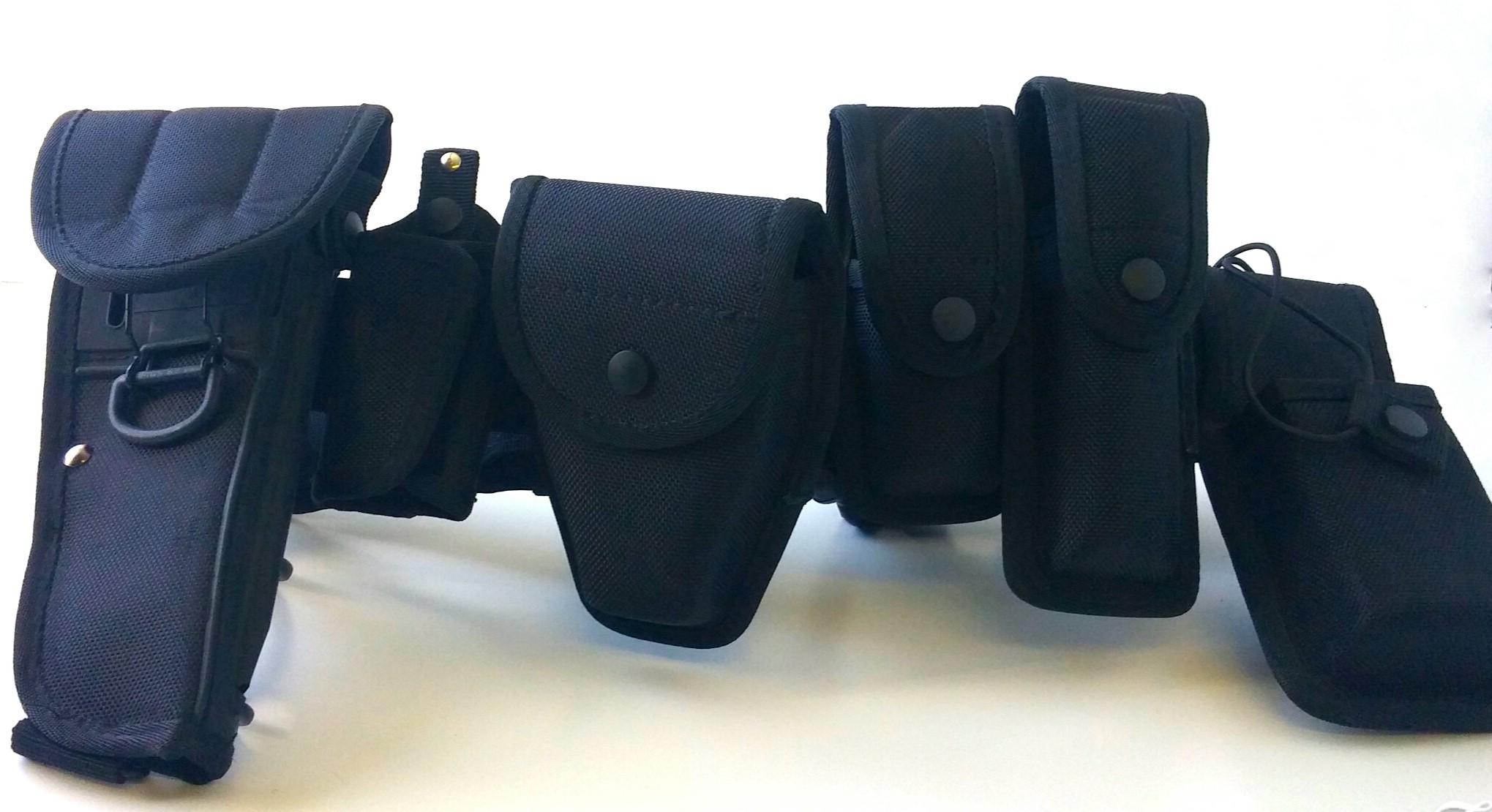 Deluxe black police belt