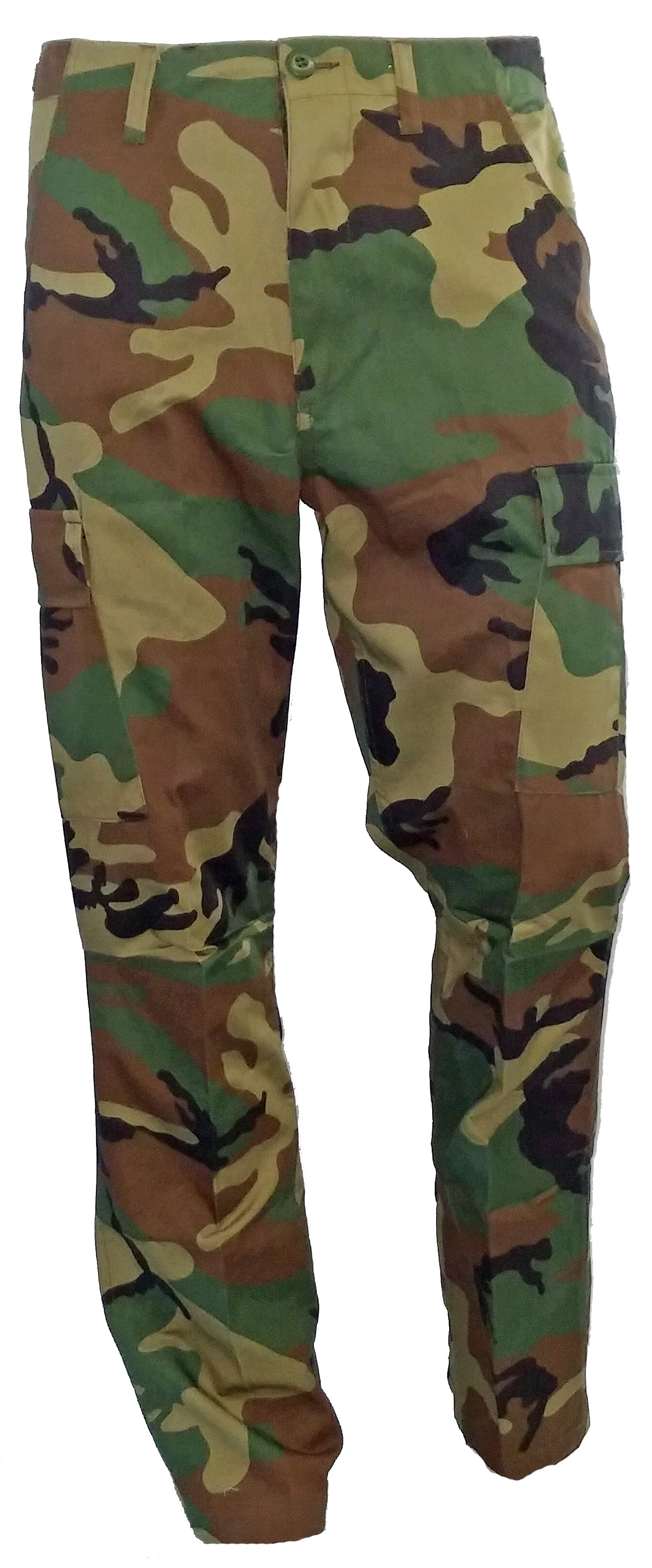 BDU army style woodland camo pants