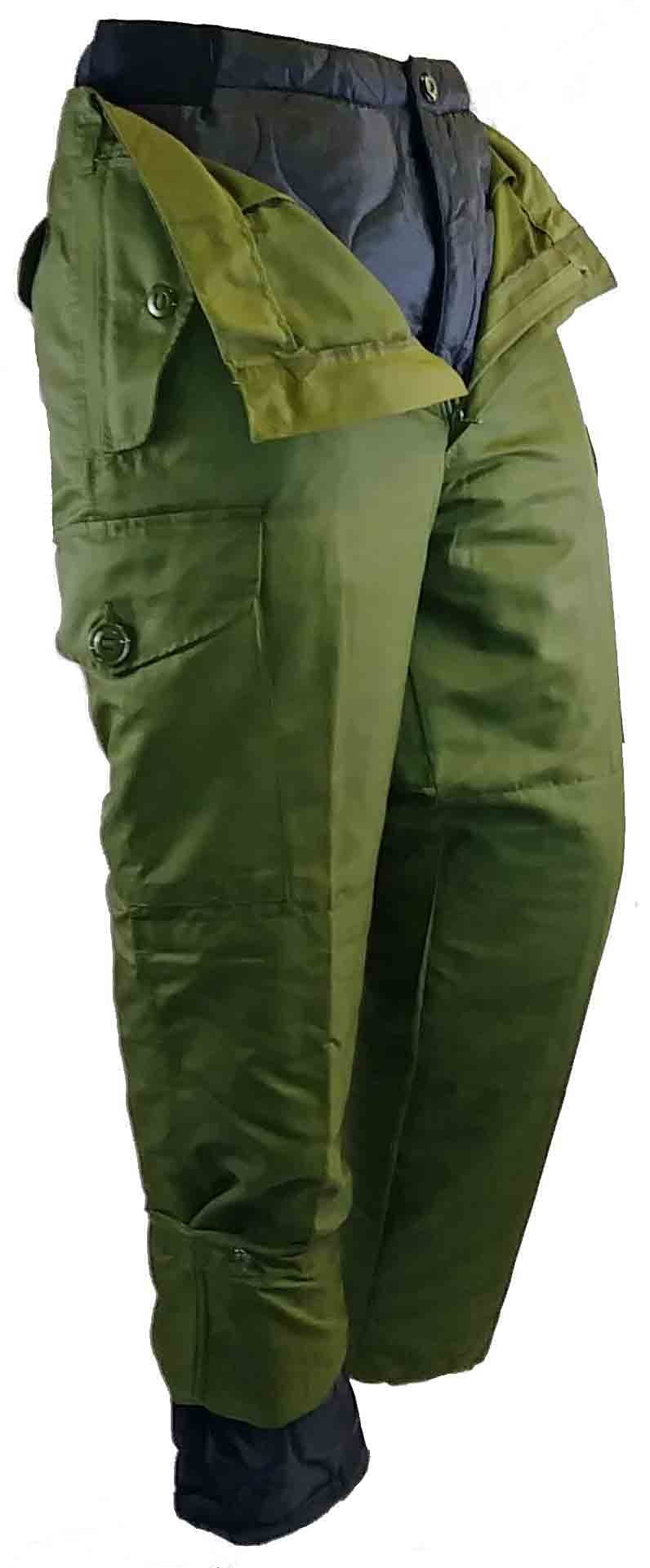 Wind proof combat style pant with liner.