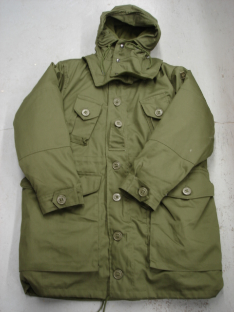 Parka. Imported. Canadian military style. Olive drab color