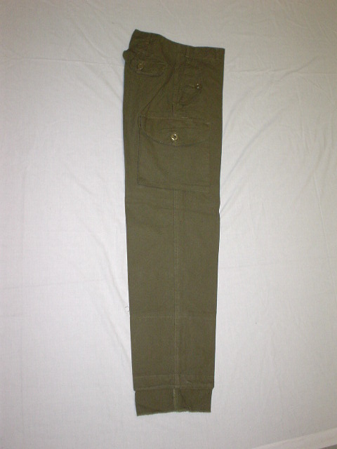 Combat pant. 100% cotton. Olive drab.