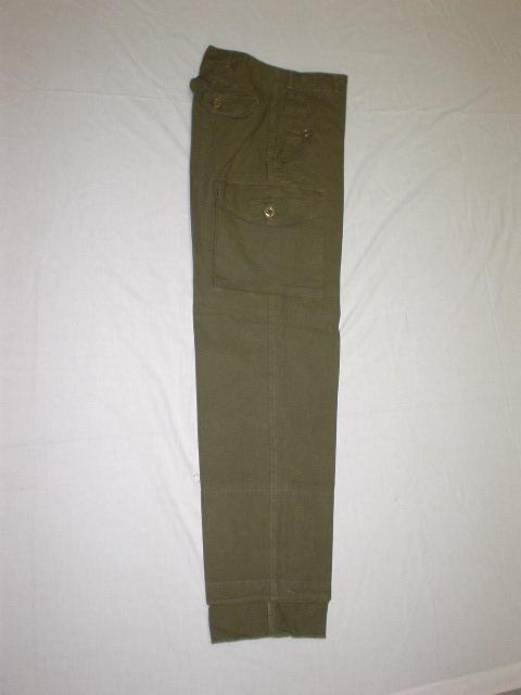 Pantalon de combat kaki. 100% coton.