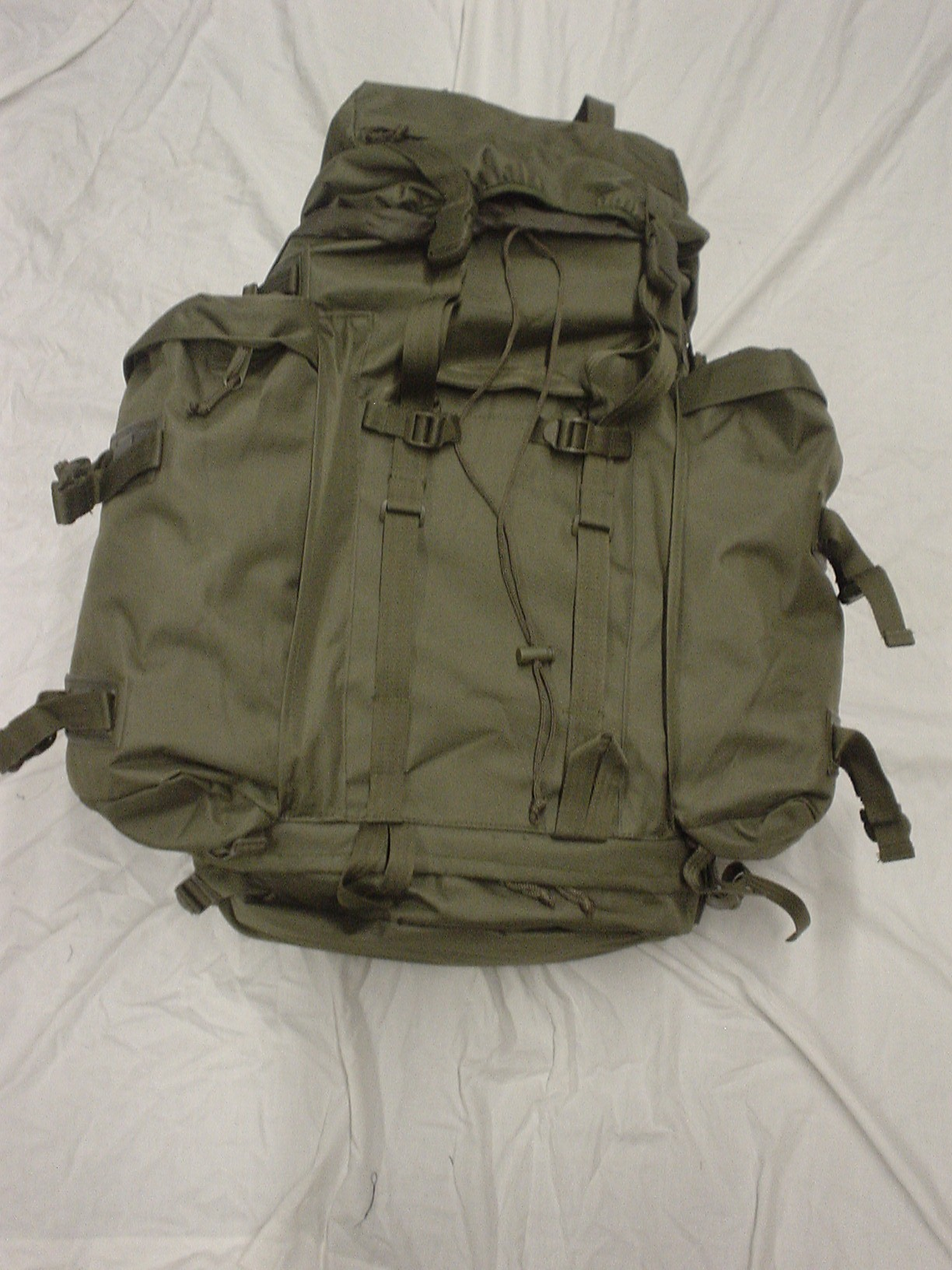 Olive drab combat rack sack