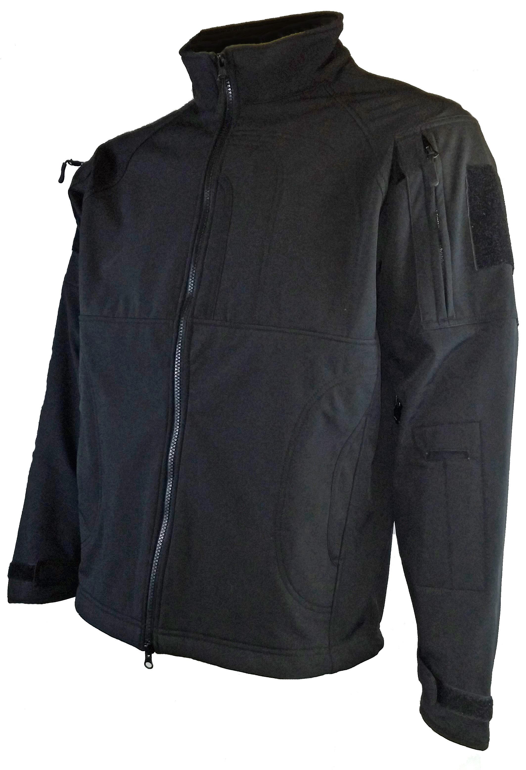 Black softshell 100% polyester