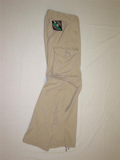 Pantalon convertible de style combat en nylon beige