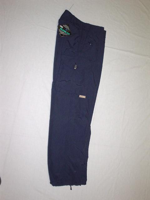Pantalon de style combat en nylon marine