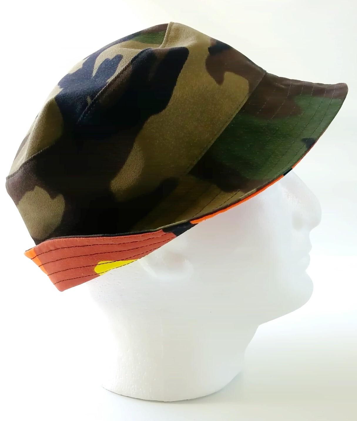 Reversible camo hat
