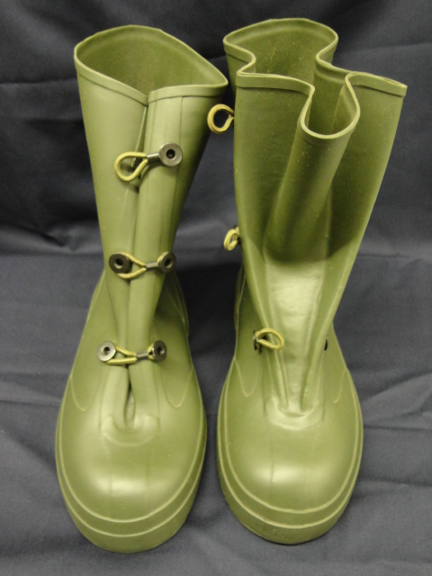Olive drab overshoes