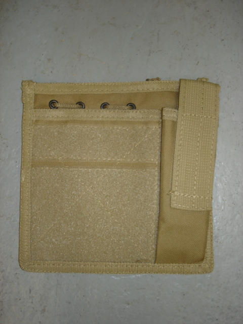 "Tan pouch for map and pistol mag""MOLLE"" system"