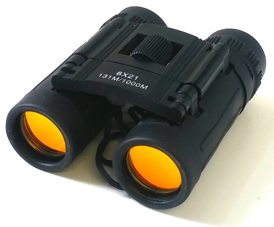 Black binocular 8 X 21