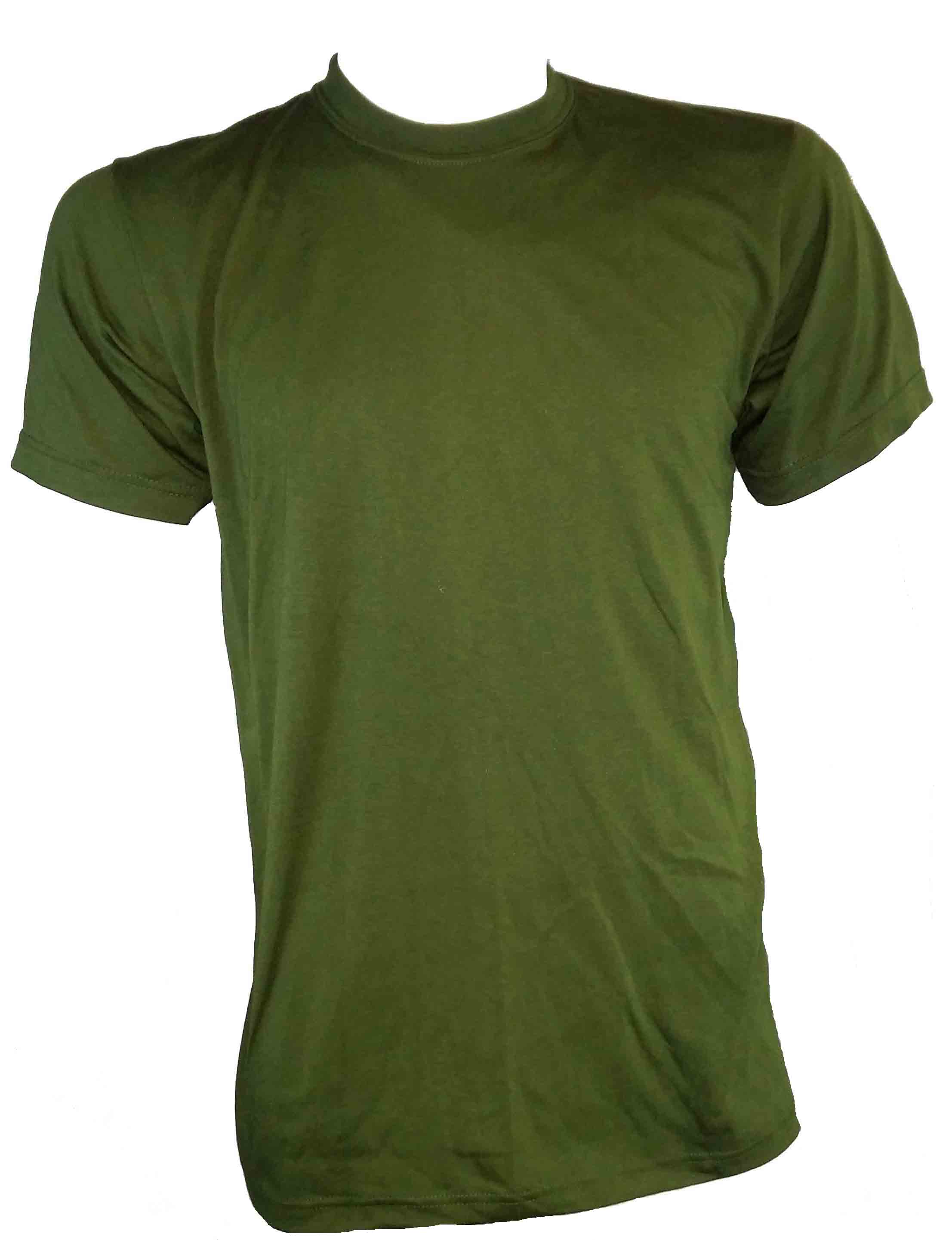 MILITARY STYLE T-SHIRT O/D ROUND NECK