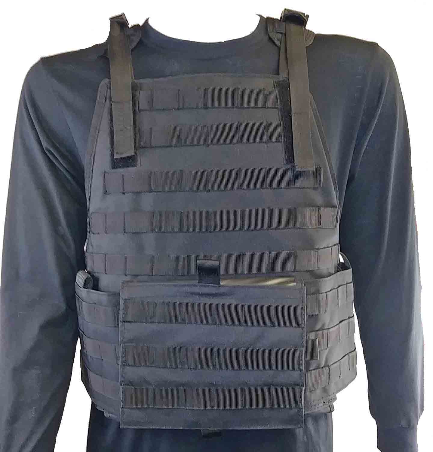 """Molle system"" black tactical vest"