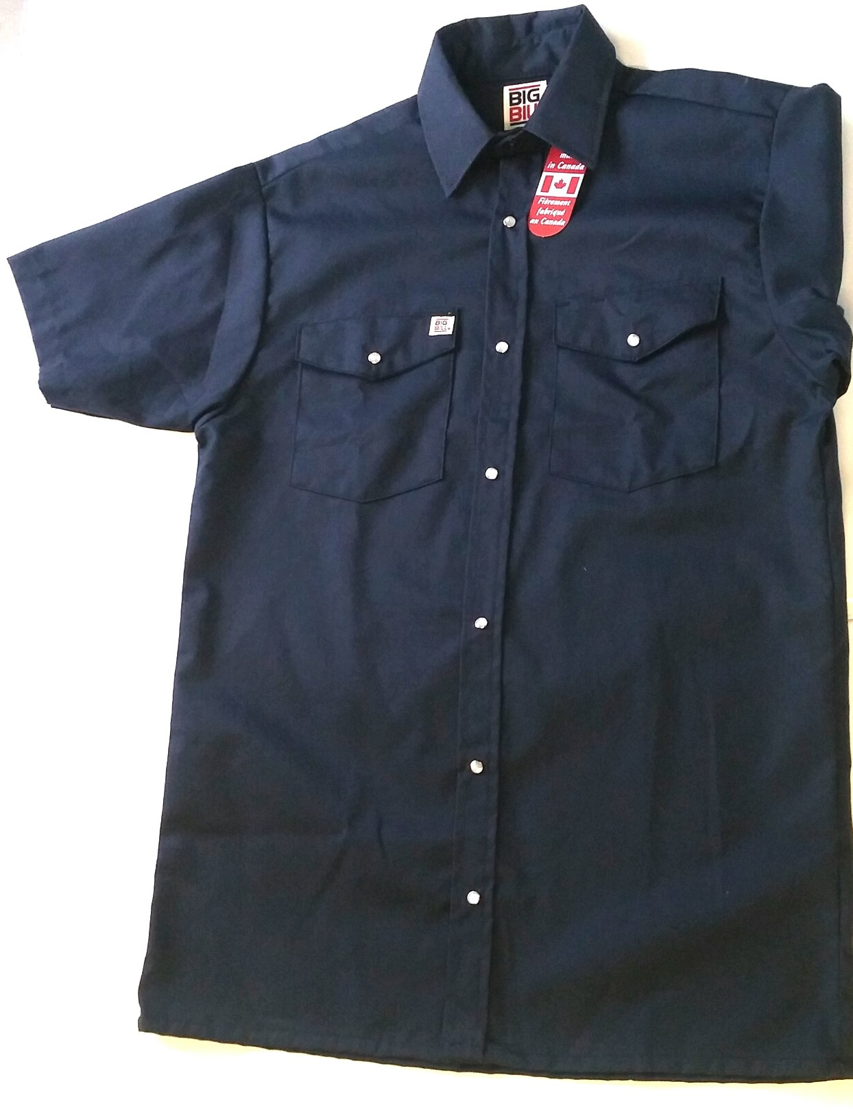 Big bill chemise de travail bouton pression manche courte (237)