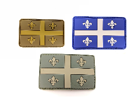 Velcro and rubber patch / Quebec flag