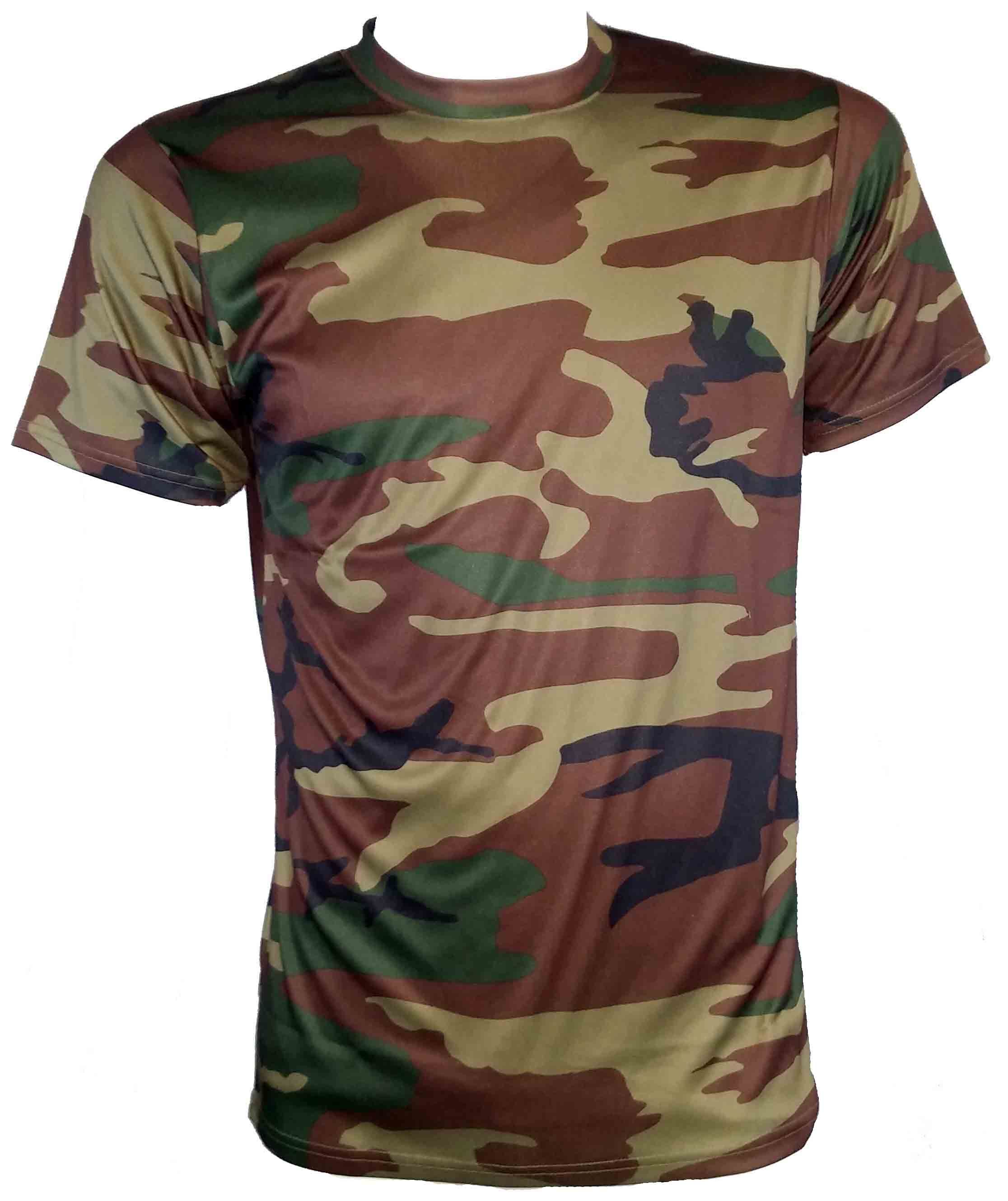 SGS t-shirt anti humidité camouflage