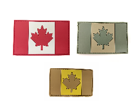 Rubber and velcro patch / Canadian flag