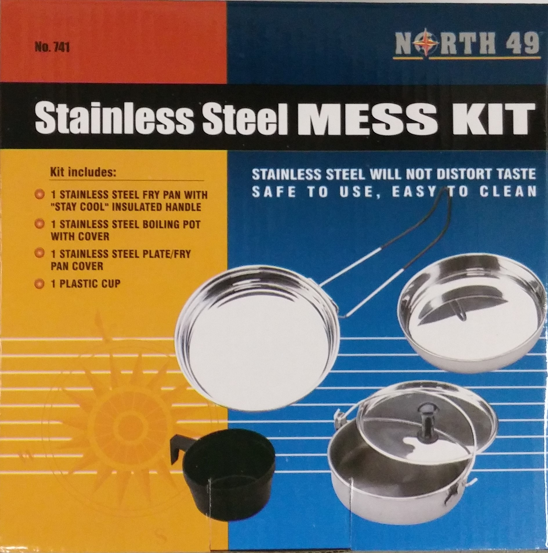 Stainless stell mess kit