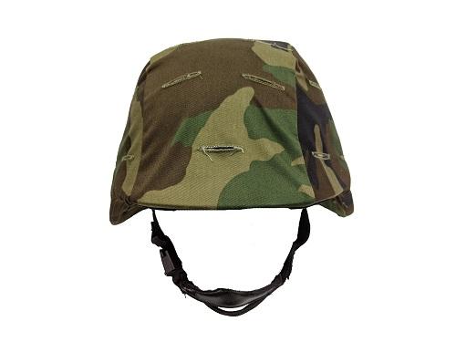 U.S. woodland camo helmet