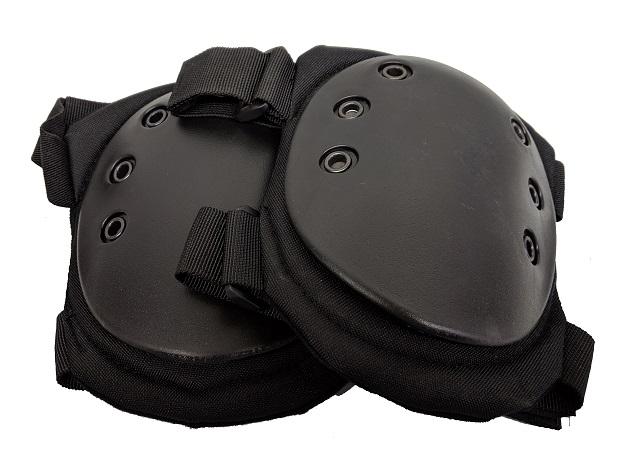 Protège-genoux tactiques noirs