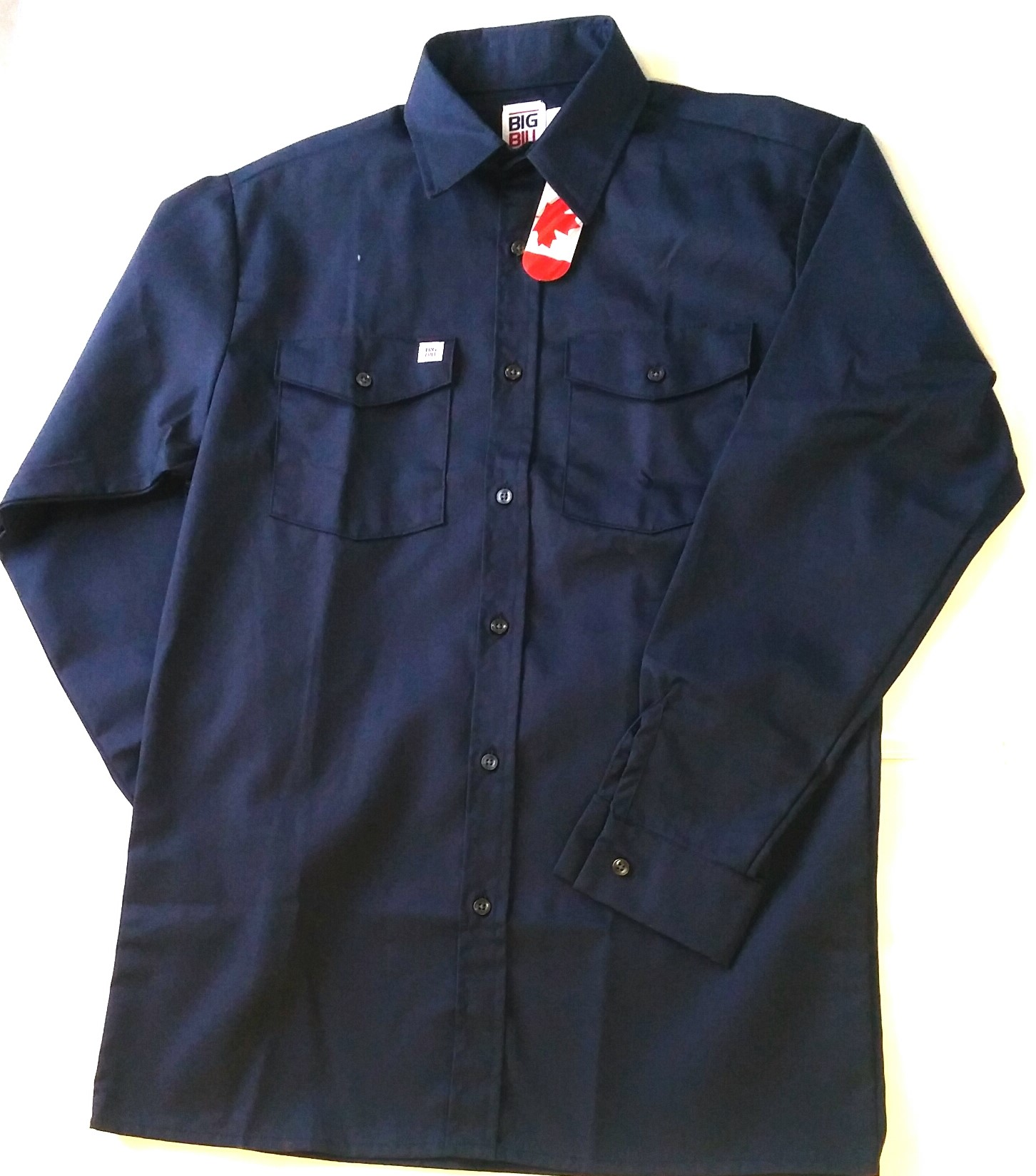 Big bill button up work shirt long sleeve (147)