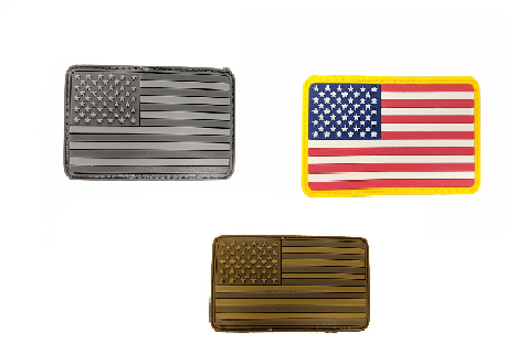 Velcro and rubber patch / U.S flag