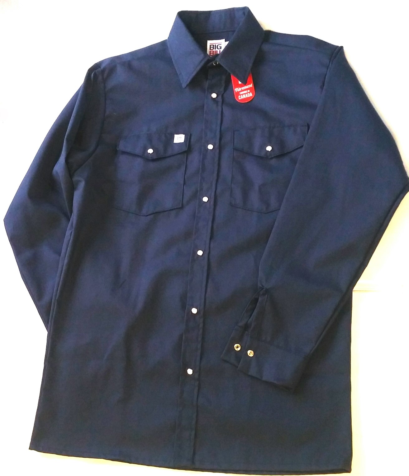 Big bill snap work shirt long sleeve (247)