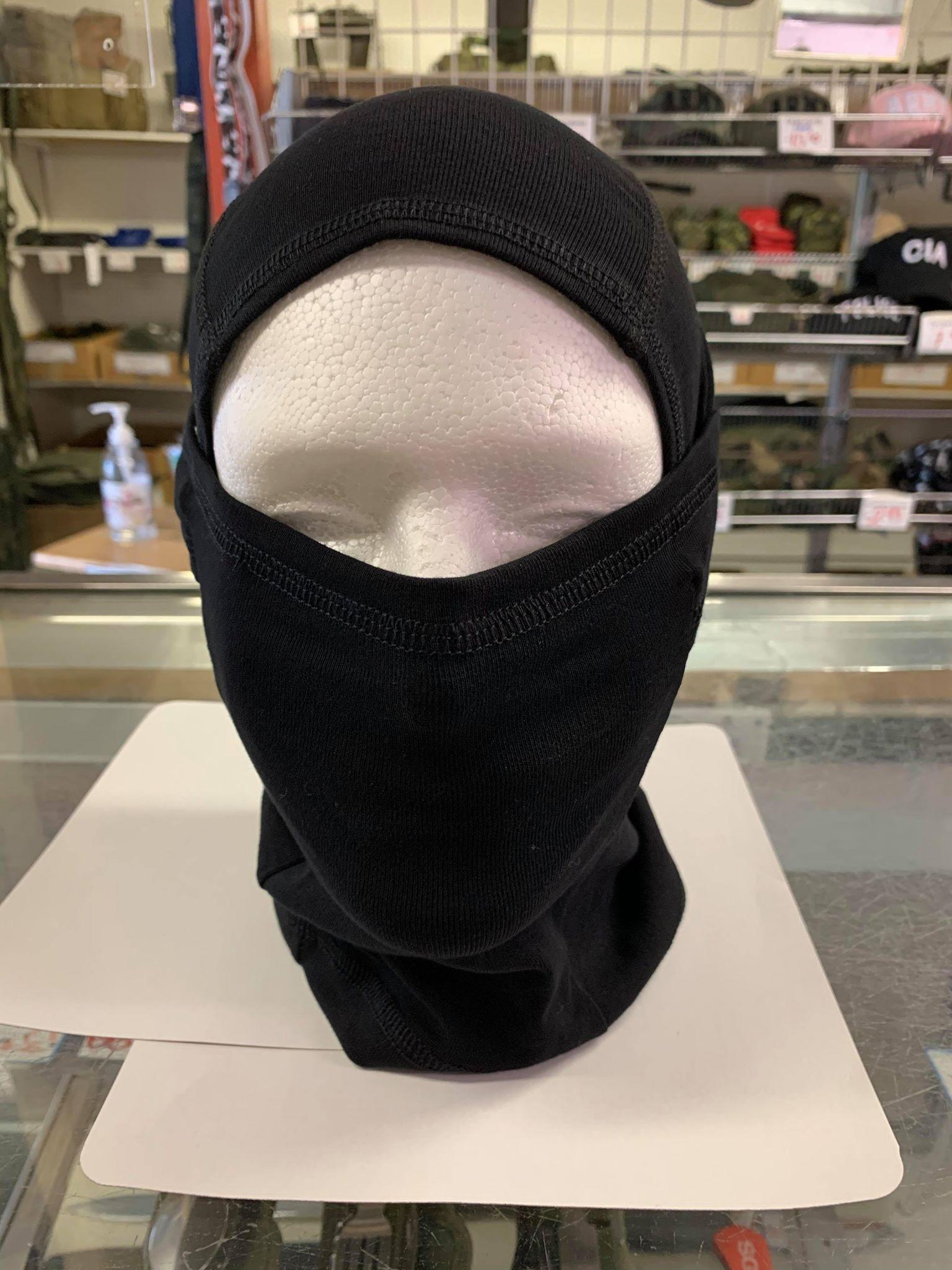 Cagoule ninja noire nouveau modèle